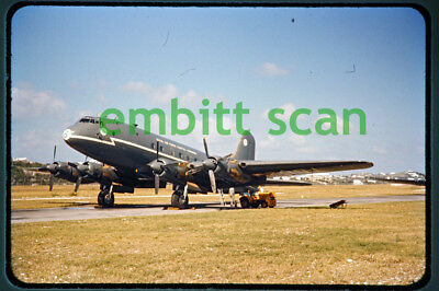 Original Slide, RAF Coastal Command Handley Page HP.67 Hastings C1, Bermuda 1960