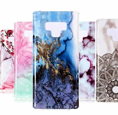 For Samsung Galaxy Note 9 - TPU Rubber Phone Case Cover Marble Stone Patterns