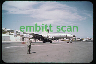 Original Slide, USAF Lockheed RC-121D Warning Star at Kindley AFB Bermuda, 1950s