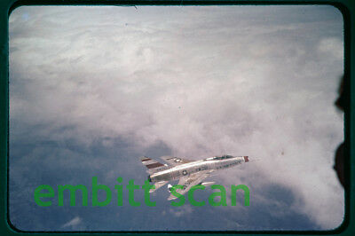 Original Slide, Air-to-Air USAF North American F-100D Super Sabre, 1950s
