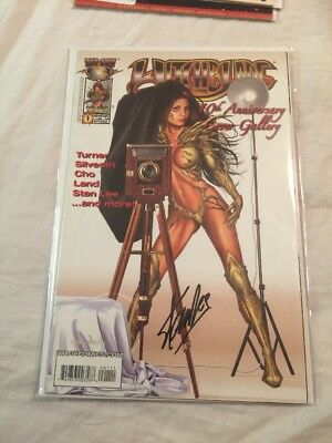 Witchblade 10th Anniversary Signed By Stan Lee COA Auto Autograph Cover Gallery