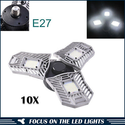 10xE27 UFO LED High Bay Light 60W Changeable Graden Shop Gym Warehouse Work Lamp