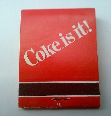 "Coca Cola Matches ""Coke is It"" (Unused) Lot of 4 Books"
