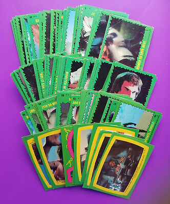 The Incredible Hulk Set Of Trading Card Set with 8 Stickers (Topps 1979) Wrapper