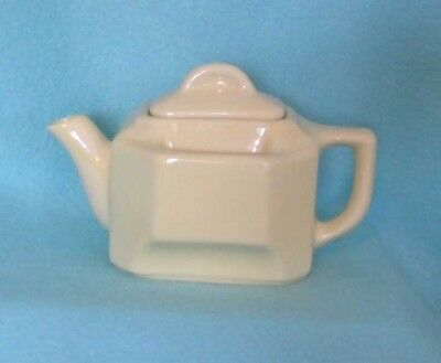 Vintage Pottery Teapot in Yellow with Tea Bag Holder on Both Sides