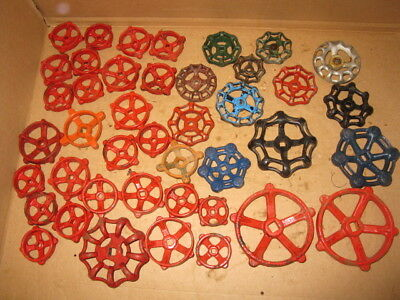 40 Plus  Vintage Metal Water Faucet Knob Handles Flowers Repurpose #2