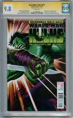 Incredible Hulk #611 Cgc 9.8 Signature Series Signed Stan Lee Marvel World War