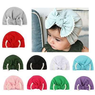 1pc Newborn Toddler Kids Baby Boy Girls Turban Cotton Beanie Hat Winter Warm Cap
