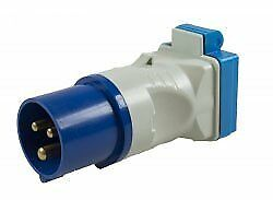 Maypole caravan 230V 16A Plug To BS Socket Adapter DP
