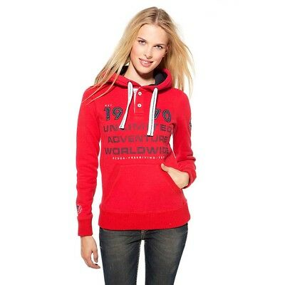 Ssi Unlimited Adventure Hooded Rosso , Felpe donna Ssi , immersione