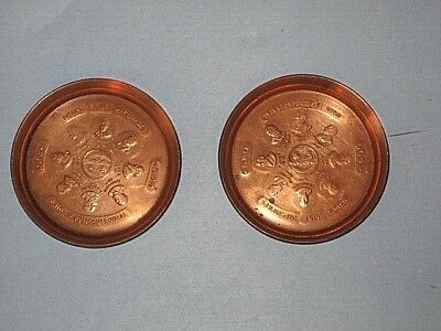 Set of 2 Ohio Sesquicentennial Metal Pin Tray - Ohio's Eight Presidents. Copper