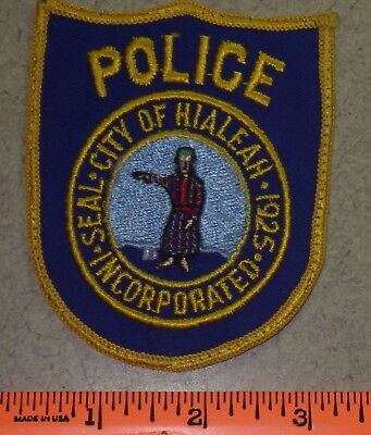 Old Hialeah Florida State Fl Fla Law Enf Police Shoulder Patch - Miami Dade Co.