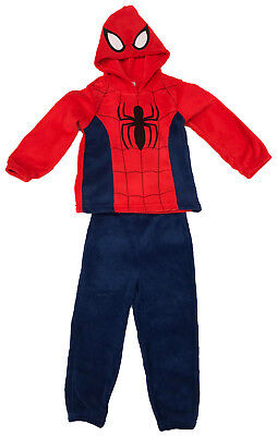 Boys Spiderman Pyjamas Set Kids Warm PJ's Top & Bottom Nightware Soft Age 4-9