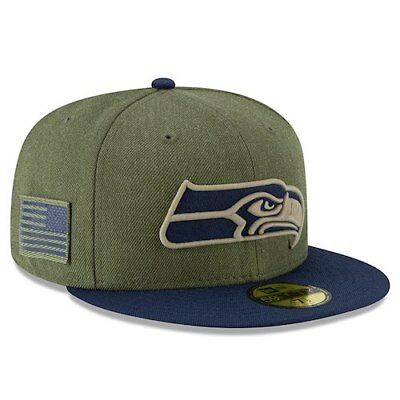 ad5a616df Seattle Seahawks New Era Youth 2018 Salute to Service Sideline 59FIFTY  Fitted