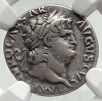 NERO Authentic Ancient 64AD Rome Genuine Original Silver Roman Coin NGC i72340