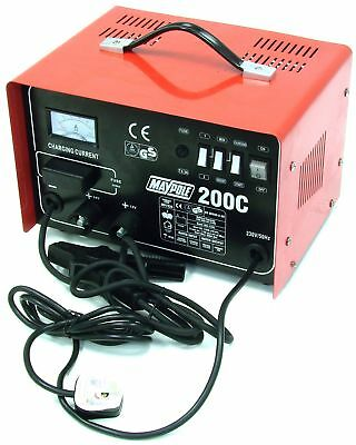 Maypole 7225 Max Start Charger, 12/24 V, 20 A/200 A