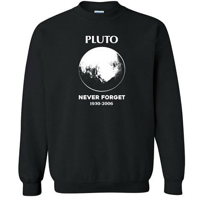 b22e99ea2 578 Never forget Pluto Long Sleeve Shirt science funny planets astronomy  solar Clothing, Shoes & Accessories