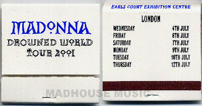MADONNA Tour PROMO ONLY MATCHES Drowned World Tour UK 2001 Band issue