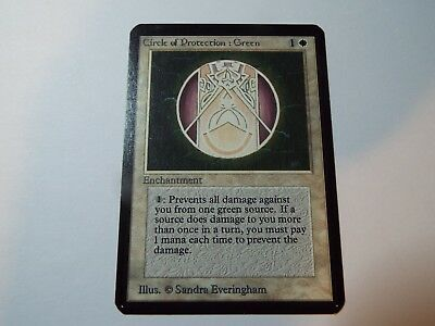 MAGIC THE GATHERING ALPHA WHITE COMMON CIRCLE OF PROTECTION: GREEN, ex
