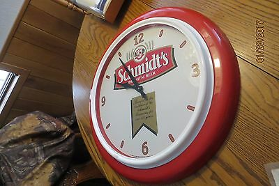 1996 working Original Schmidt's premium beer clock brewed for over 125 years