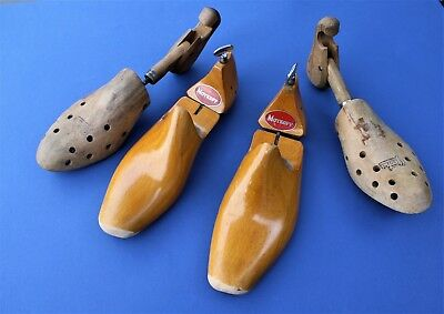 Vintage Wooden Shoe Trees ~ Rare Moykopf / Geoha ~ Adjustable ~ Two Pairs