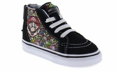 b5b907bf96 VANS BABY TODDLER Sk8-Hi Zip Up Easy-On Boys Nintendo Mario   Luigi ...