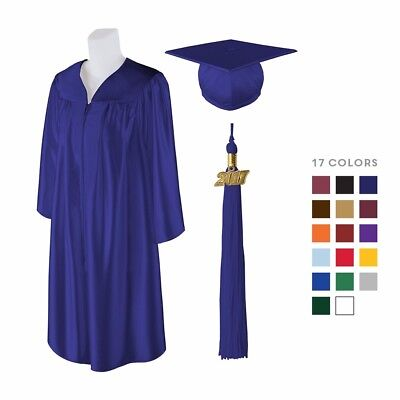 Matte Graduation Cap Gown and Matching 2019 Tassel Best Quality Lowest Price