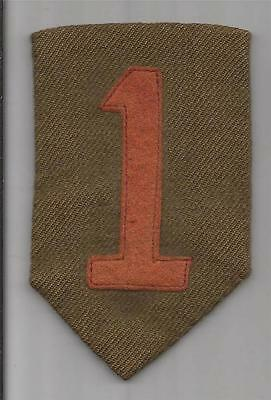 """WW 1 US Army 1st Division 2-1/4"""" X 3-3/4"""" Patch Inv# F266"""