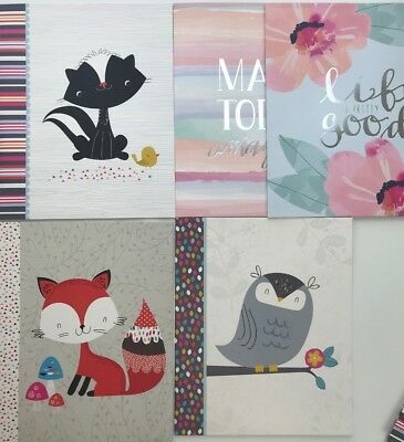 Adorable Paper 2 Pocket Folders 3 PACK Fox Skunk Owl Inspiration 3 Hole Punched