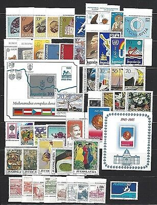 Yugoslavia Sc#1722/RA74,  1985 Year Set Collection 49 Stamps +2 S/S Mint NH w/OG