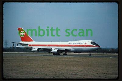 Original Slide, Air Canada Boeing 747-133 (C-FTOE) at Heathrow, 1976