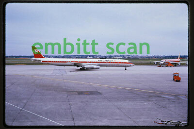 Original Slide, Air Canada Douglas DC-8-63 (CF-TIM) at Toronto, 1973