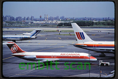 Original Slide, Air Canada Douglas DC-9-32 (C-FTLQ) at LaGuardia, 1983
