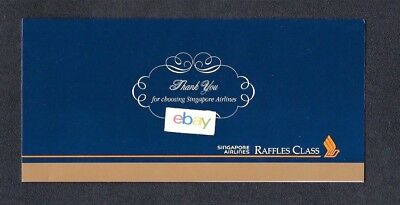Singapore Airlines 12/1996 Raffles Class Business Class Ticket Jacket-Thank You