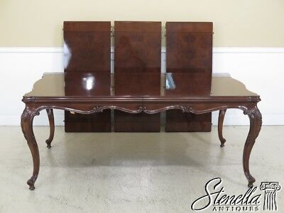 L45513EC: KARGES French Louis XV Walnut Dining Room Table