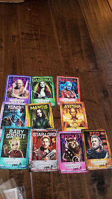 2017 AMC Guardians Of The Galaxy Promo Karte Set mit 10 Ego Groot Star Lord
