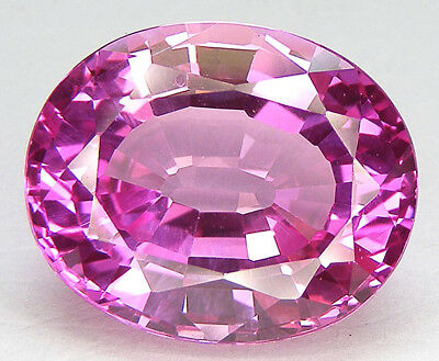 41,72CT. BEAU ENORME T. OVALE 22,5x18,6 MM. SAPHIR ROSE CORINDON DE SYNTHESE