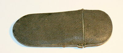 C1790 , Early Shagreen Spectacles Case Etui, Page 43 In My Book , Clicks Closed