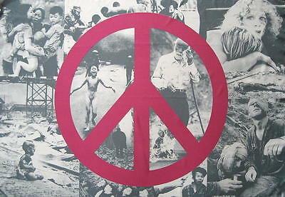 Peace Sign Flagge Fahne Posterflagge Collage