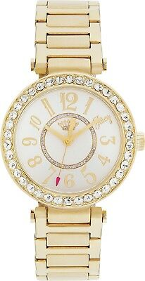 Juicy Couture Ladies' Gold T Bar Stone Set Bracelet Easy Read Analogue Watch