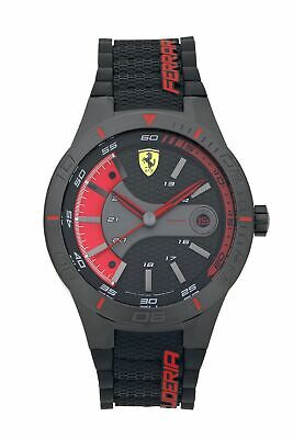 Scuderia Ferrari Men's Red Stainless Steel Rev Evo Strap Watch - Black/Red