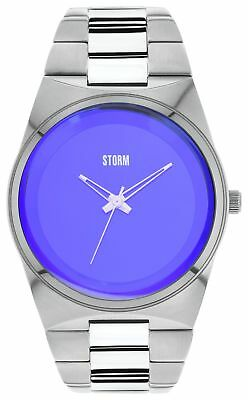 STORM Men's Exclusive Blue Dial Stainless Steel Strap Analogue DIsplay Watch.