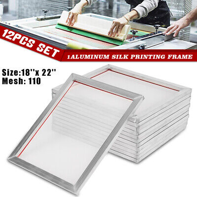 5 Pack - 16'' x 20'' Aluminum Frame With 47T Silk mesh White Printing Screens US