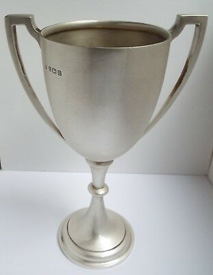 SUPERB V CLEAN LARGE HEAVY 316g ENGLISH ANTIQUE 1912 STERLING SILVER TROPHY CUP