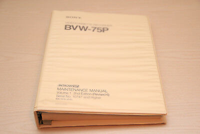 Sony BVW-75P Maintenance Manual Vol. 1 & 2 (AMPEX CVR75 BTS BCB75)