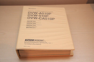 Sony DVW-(A)510P DVW-CA510P  Maintenance Manual Part1