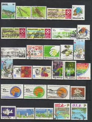 Singapore 1984-1987 Used Selection Cat £25+