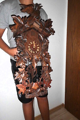 xl vintage cuckoo clock black forest wall clock regula made in germany 8 day
