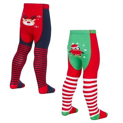 Baby Christmas Tights with Festive Patch Panel 0-6 months up to 18-24 Months
