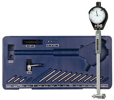 """Engine Cylinder Bore Dial Indicator Gauge Kit 1.4"""" to 6"""" inch .0001 w/ 2 heads"""